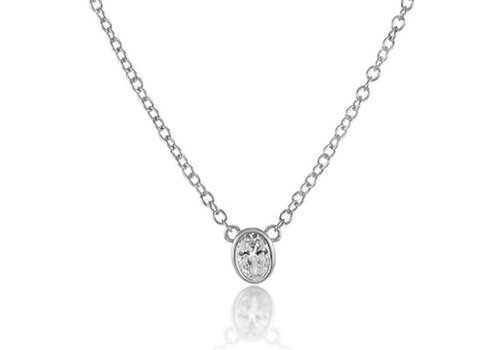 Melinda Maria Single Thorn Necklace White Diamondette