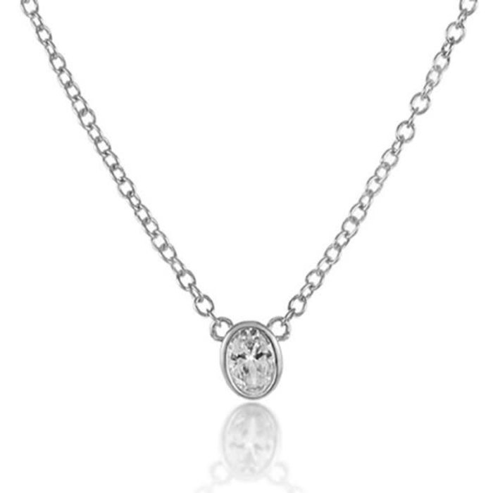 Single Thorn Necklace White Diamondette