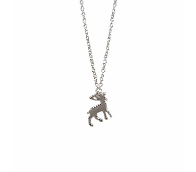 Mini Metal Necklace Deer