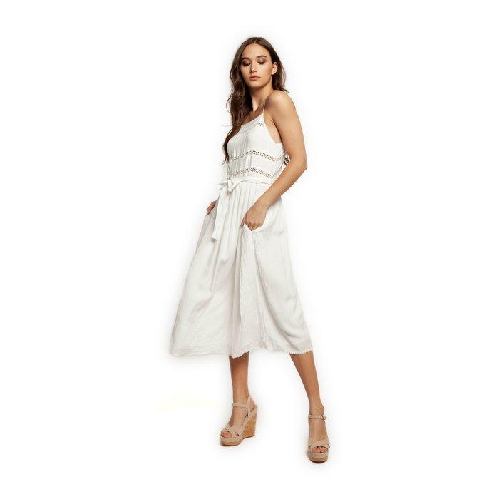Midi Dress with Trim
