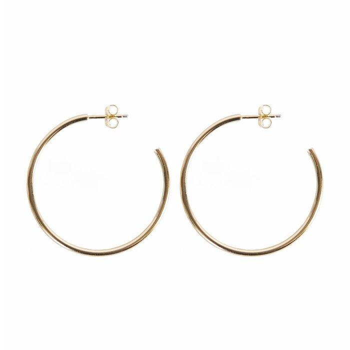 Solid Bar Hoops Earrings