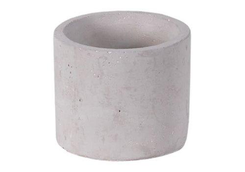 """Hill's Imports Mini Cement Planter Round 2.5"""""""