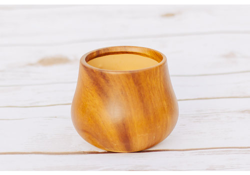 Dolomite Pot Dark Wood 8.5 x 7.5cm