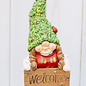 Dwarf With Welcome Sign Red and Green 22 x 17 x 53cm