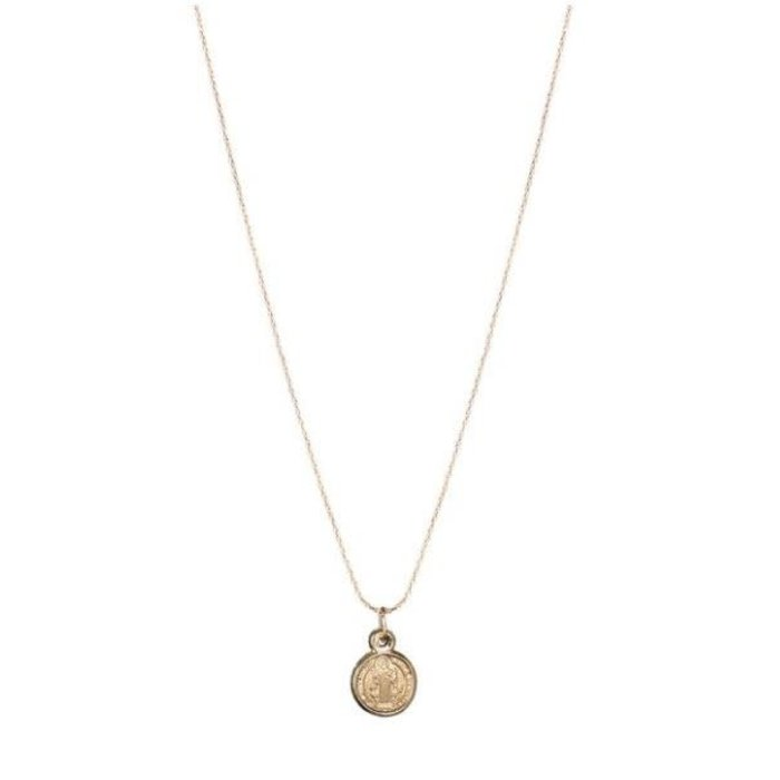 Roma Coin Necklace Gold Fill
