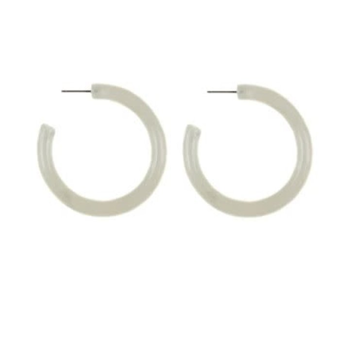 Jeanne Acrylic Hoops Lucite