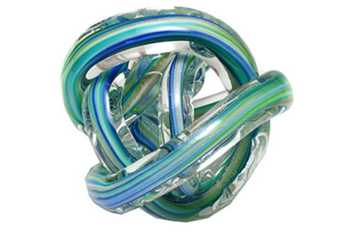 Green Earth Glass Knot Blue Multicolour