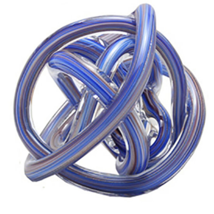 Glass Knot Blue and Gold