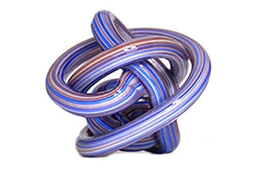 Green Earth Glass Knot Blue and Gold