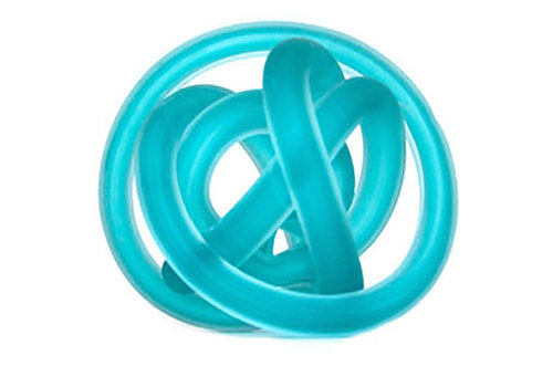 Green Earth Glass Knot Frosted Blue