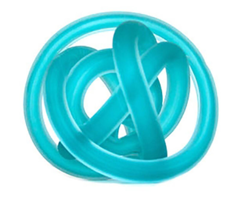 Glass Knot Frosted Blue