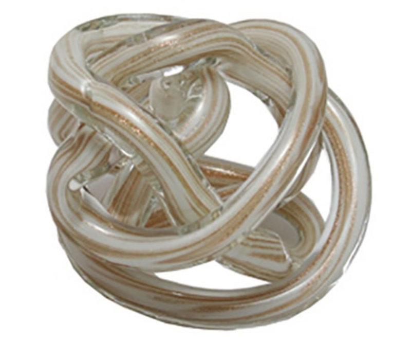 Glass Knot White and Gold