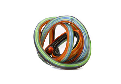 Green Earth Glass Knot Rainbow