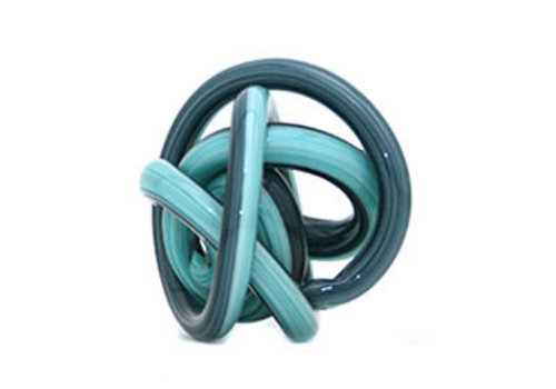 Green Earth Glass Knot Blue and Teal