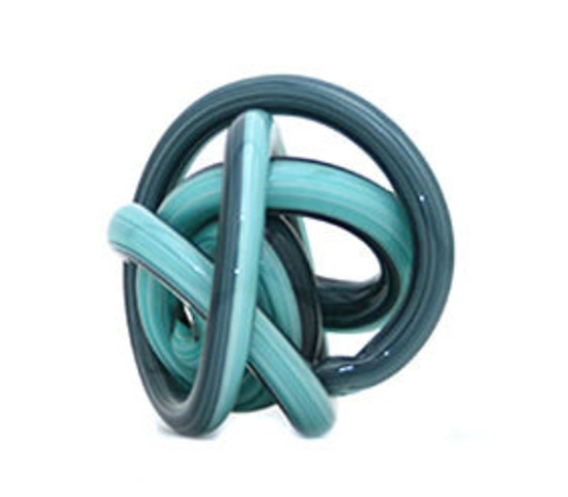 Glass Knot Blue and Teal
