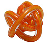 Green Earth Glass Knot Orange Multi