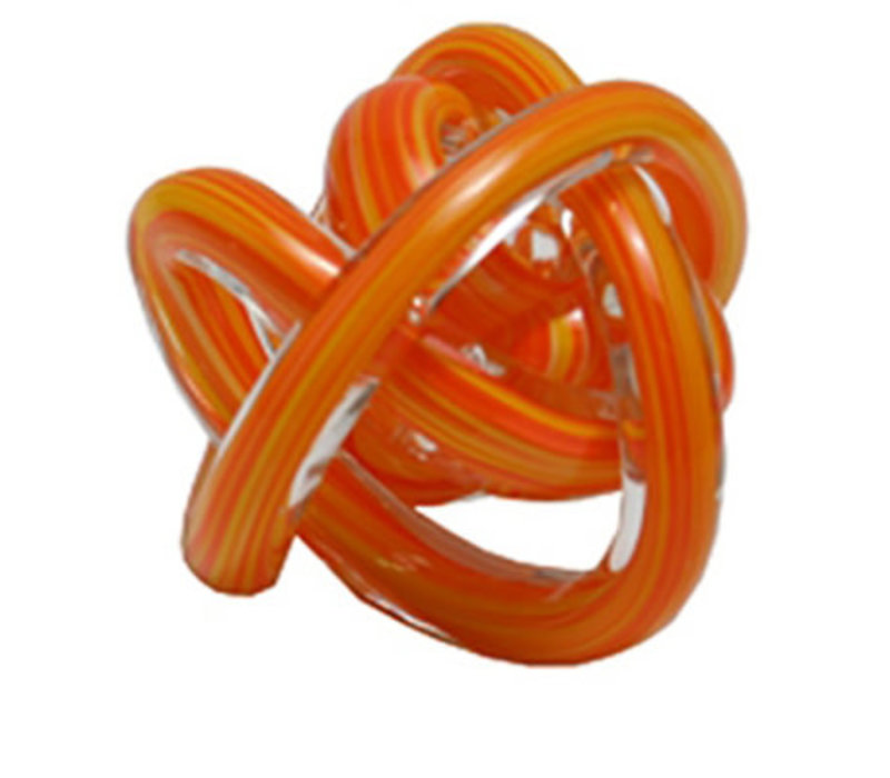 Glass Knot Orange Multi