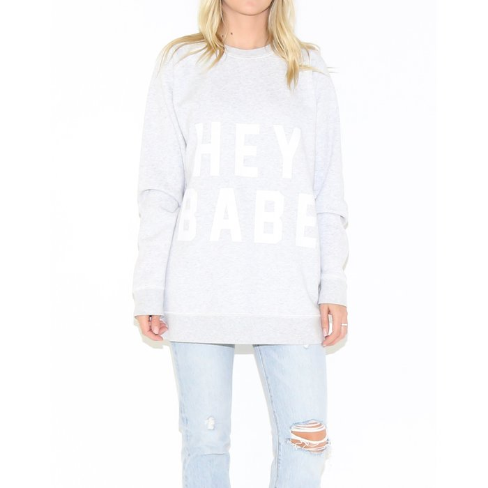 Hey Babe Big Sister Oversized Crew