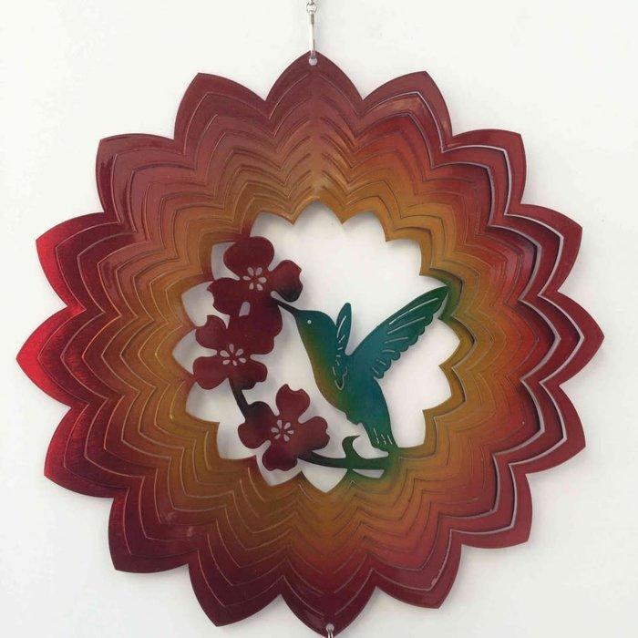 """Wind Spinner Hummingbird Red 8"""""""