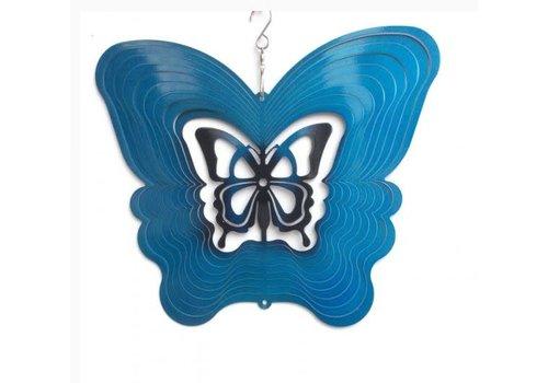 "#62-19 Wind Spinners Wind Spinner Butterfly Blue 8"""