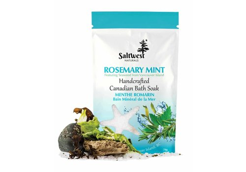 Saltwest Naturals Rosemary Mint With Seaweed Bath Soak 70g