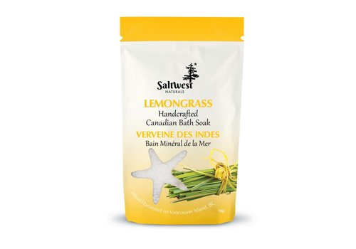 Saltwest Naturals Organic Lemongrass Bath Soak 70g