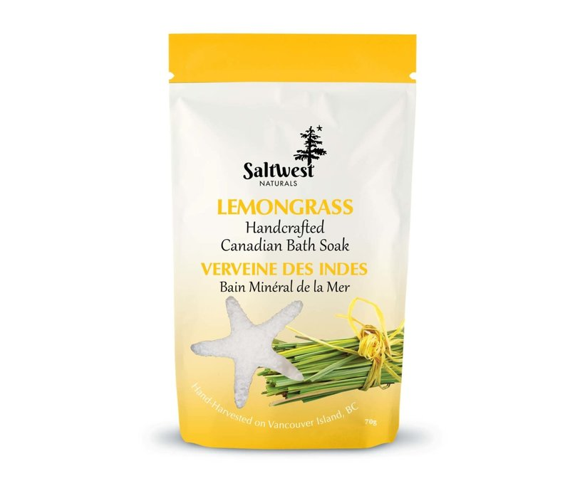 Organic Lemongrass Bath Soak 70g