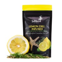 Organic Lemon Dill Infused Sea Salt 40g