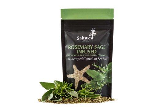 Saltwest Naturals Organic Rosemary Sage Infused Sea Salt 40g