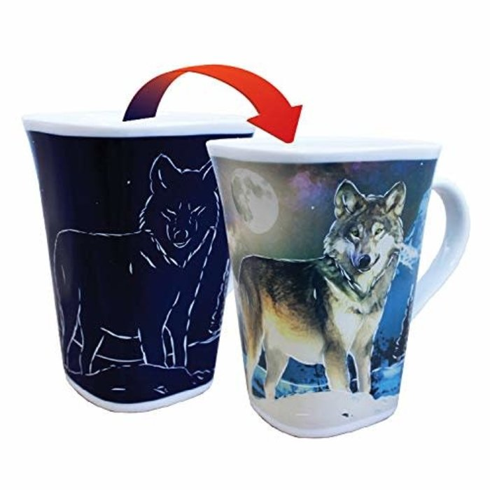 Color Changing Mug Wolf 16oz