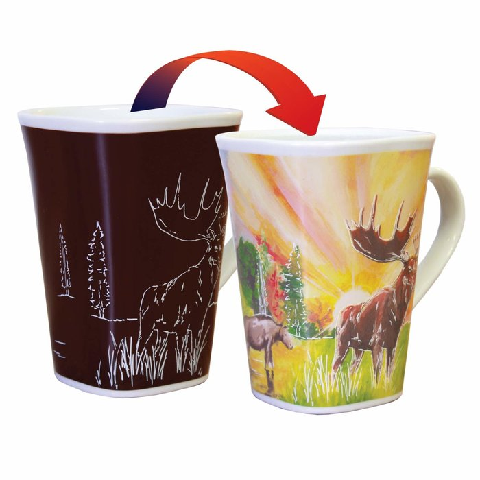 Color Changing Mug Moose 16oz