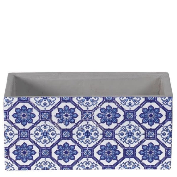 "Rectangle Delft Blue Planter 8"" x 4"""