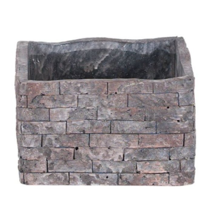 "Square Brick Design Planter 5.5"" x 3.5"""