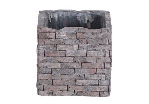 Hill's Imports Square Brick Design Planter 4""