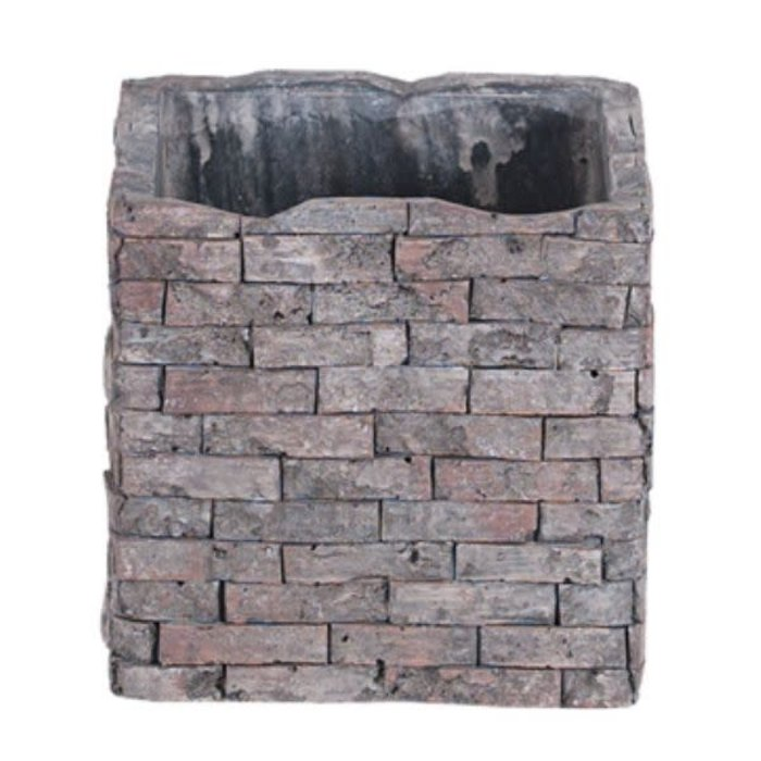 Square Brick Design Planter 4""