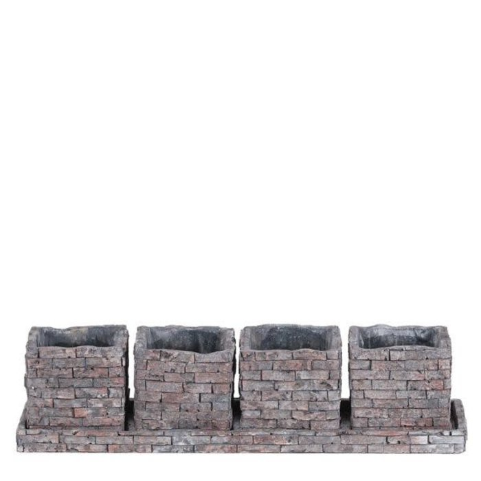 Brick Design Planter 14.5""