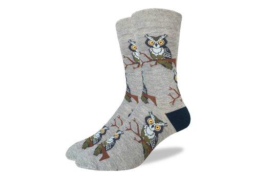 Good Luck Sock Men's Perching Owl Socks