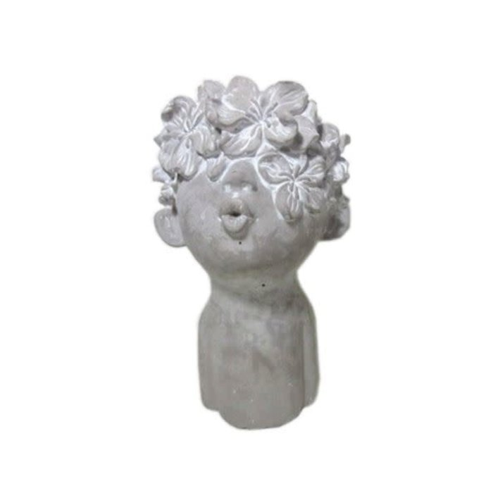 Big Flower Kiss Figurine 12""