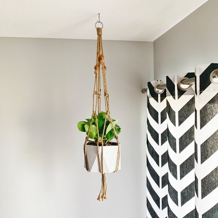 All Natural Jute Plant Hanger