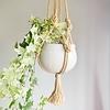 "Primitive Planters All Natural Rope Hanger 30"""