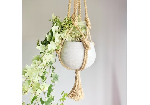 Primitive Planters All Natural Rope Hanger 30""