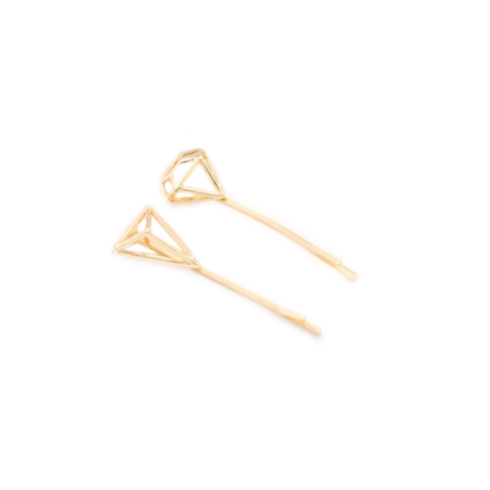 Geometric Pins Gold