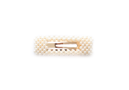 Philocaly Fashionably Late Barrette Gold and Pearl