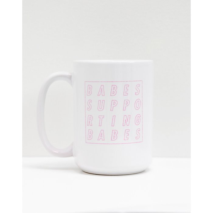 BSB Cube Mug White and Pink