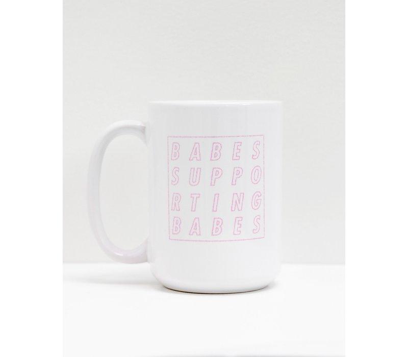 BSB Cube Mug White and Pink