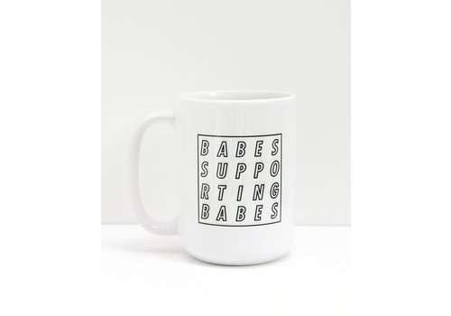 Brunette The Label BSB Cube Mug White and Black
