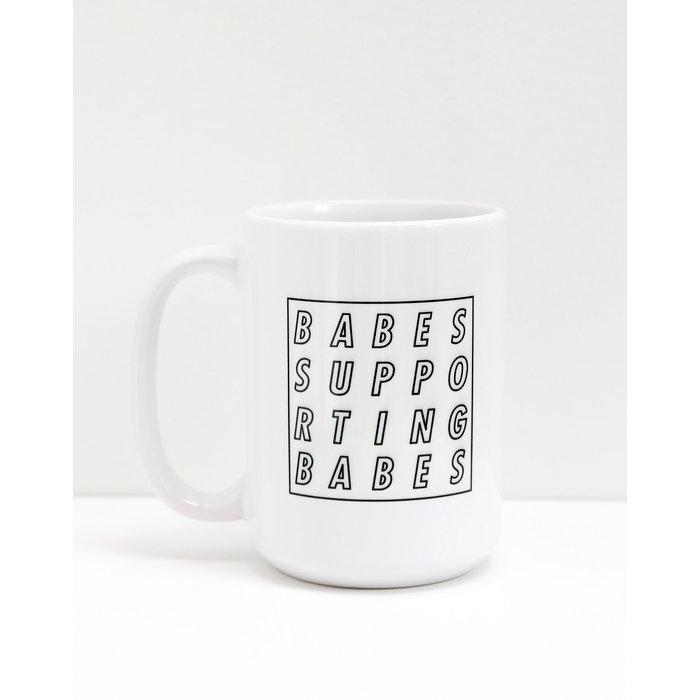 BSB Cube Mug White and Black
