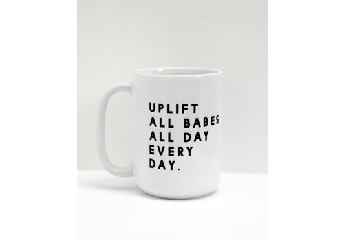 Brunette The Label Uplift All Babes Mug White