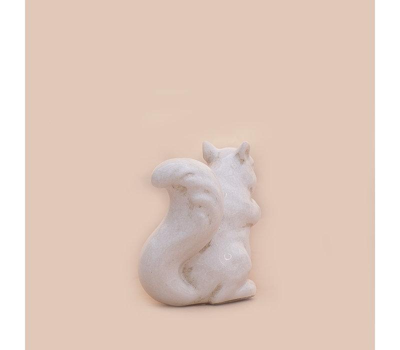 "Crackle Squirrel White 6"" x 5"""