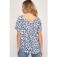 Drop Shoulder Leopard Top